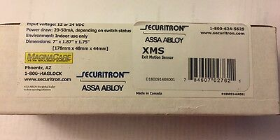 Securitron XMS Exit Motion Sensor, 12/24VDC - BRAND NEW IN THE BOX!