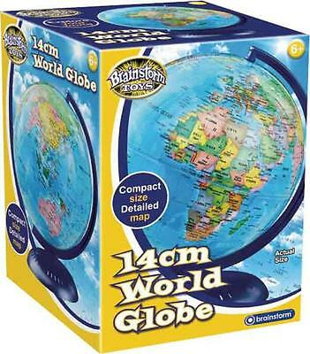 Brainstorm Childrens Educational Toys Geographic Earth Map World Globe 14cm
