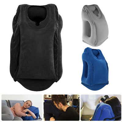 2017 Inflatable Air Cushion Travel Pillow Head Neck Sleep Support Camping Flight