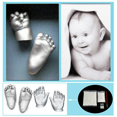 3D Plaster Handprints Footprints Baby Adult Hand&Foot Casting Mini Kit Keepsake