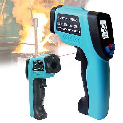 Digital IR Laser Thermometer -50 to 550℃ Temperature Measuring Tool Industry AU
