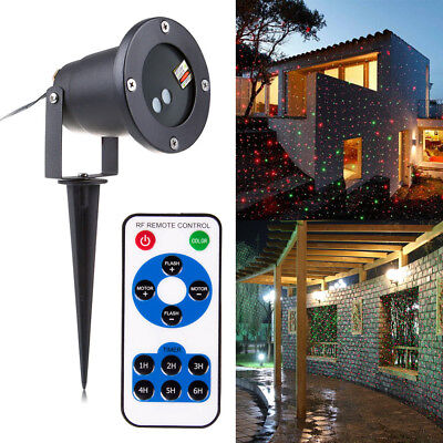 AU Christmas Outdoor Garden Light Xmas Sky Star Laser Spotlight Shower Lights