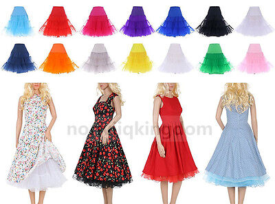 "26"" Retro Underskirt 50s Swing Vintage Petticoat Fancy Net Skirt Rockabilly Tutu"