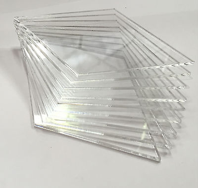 Clear Perspex Acrylic Sheet Cut to Size Panels Plexiglass A0 A1 A2 A3 A4 A5 A6