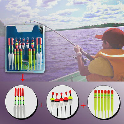 15Pcs Vertical Buoy Sea Fishing Floats Assorted Size for Most Type Fishing Lures