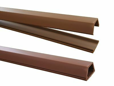 1M Cable Channel Brown 15x10mm (Inside Dimensions) Self Adhesive (Connector