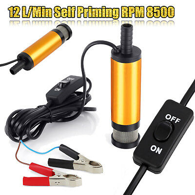 12V Car DC Diesel Fuel Transfer Pump Water Oil Submersible Camping Fishing Pump