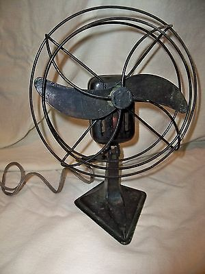 Vintage 8 Inch 2 Blade Fan AC Very Rare 1 speed WORKS!!!!