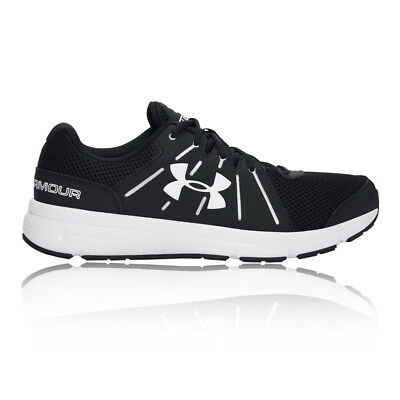 Under Armour Dash RN 2 Mens White Black Cushioned Running Shoes Trainers