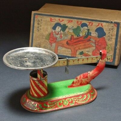 Gold glazing scales playing Antique Toy of meiji period with box made in Japan