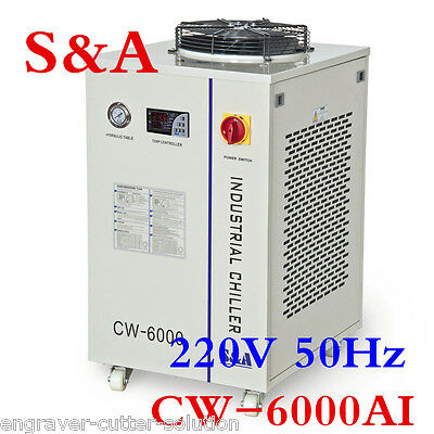 100% Original S&A 220V CW-6000AI Water Chiller for CO2 100W RF Metal Laser Tube