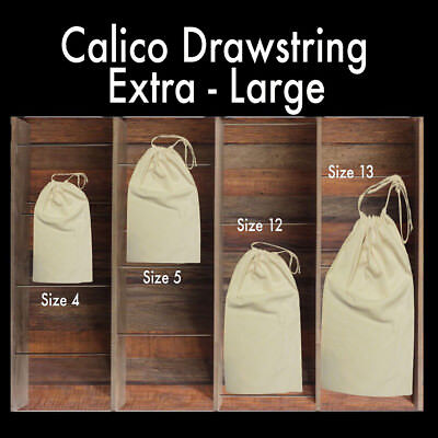 Large Calico Drawstring Bags Big Drawstring Calico Bags Big Tote Bag