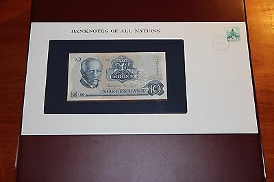 Banknotes of All Nations Norway 10 Kroner 1982 P.36c UNC Prefix BW