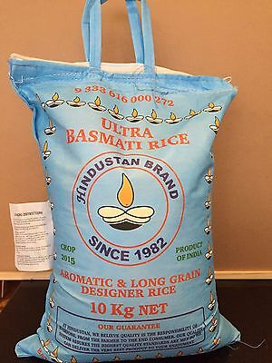 10 Kg  Ultra Basmati Rice Aromatic Long Grain Rice, Quality Brand,free Post