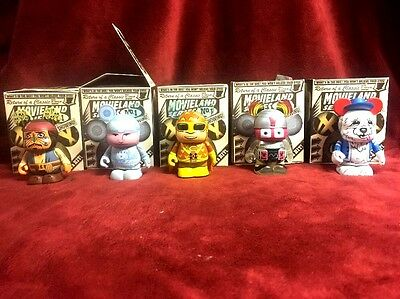 NEW Disney Vinylmation MOVIELAND SERIES 1 LOT OF 5