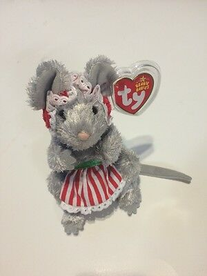 Ty Beanie Baby ~ JANGLEMOUSE the Holiday Mouse ~ MINT with MINT TAGS ~ RETIRED