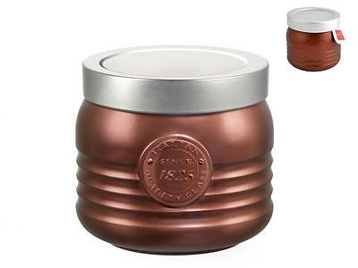 BORMIOLI ROCCO Set 6 1825 0.75 Tin Workshop Bronze Food Containers