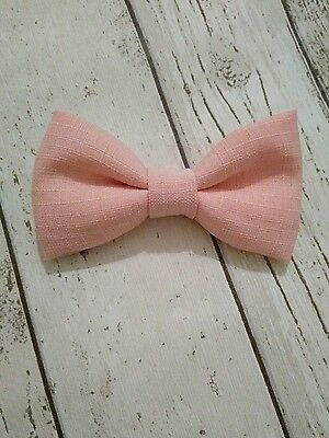 Baby Boys & Child's Handmade Peach Blush Pink Dickie Bow Tie Wedding