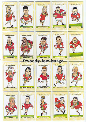 TC0003 - Rugby World Cup 1995 - Wales - Daily Telegraph Full Set of 26 cards