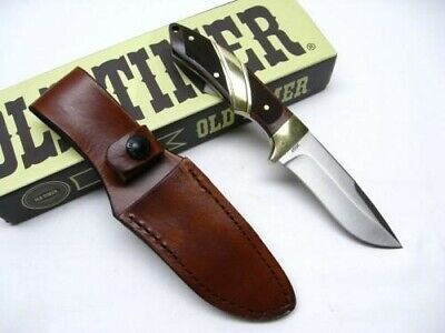 Schrade 30OT Old Timer Full Tang Capybara Straight Fixed Blade Knife + Sheath