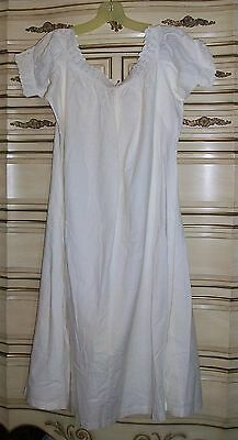 Antique 1900's White Cotton Embellished Chemise Gown Costume Re-enactment