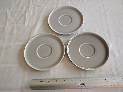 Russel Wright Modern Gray saucers from the Steubenville factory.  Set of three