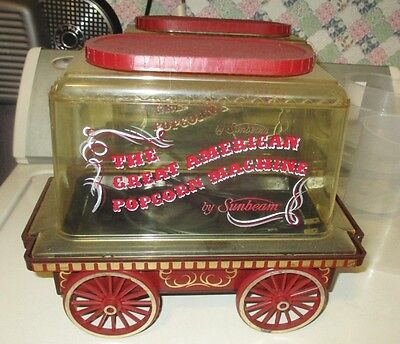 Vintage Sunbeam The Great American Popcorn Machine Maker 1976 Popper Corn