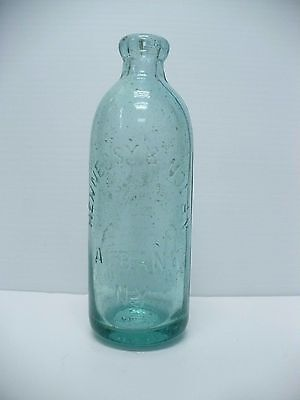 Hennessy & Nolan Albany NY Empire State Trade Mark Mineral Waters Glass Bottle