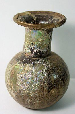 Ancient Roman Glass Sprinkler bottle c.2nd/3rd cent AD.