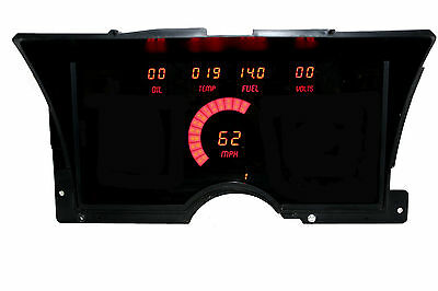 Chevy Truck DIGITAL DASH PANEL FOR 1992-1994 Gauges GMC Intellitronix RED LEDs!