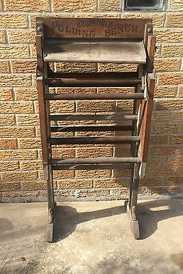 American Wringer Company Washing Machine Household Folding Bench Antique