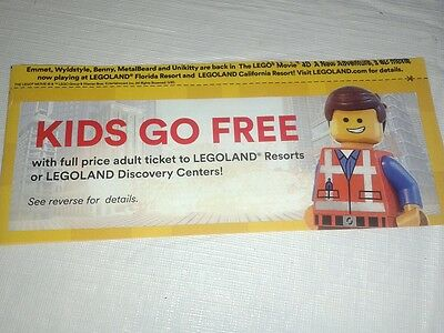 LEGOLAND resort and discovery center coupon kids go free with paying adult