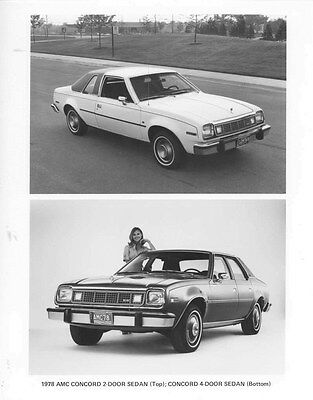 1978 AMC Concord 2-Door & Concord 4-Door Sedan ORIGINAL Factory Photo oub5479