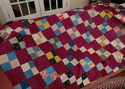 Antique 1860-1880 4-Patch Quilt Top - Kentucky