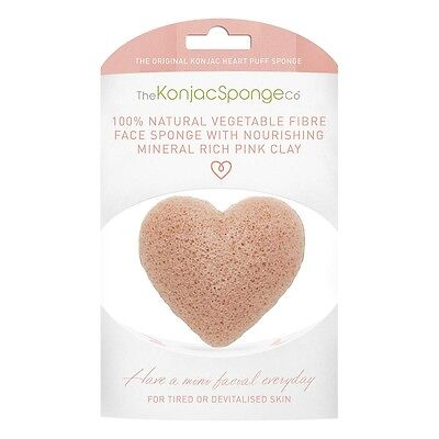 KONJAC SPONGE COMPANY Heart Facial Puff with French Pink Clay