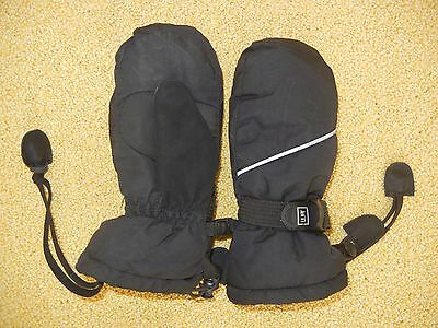 REI Black Warm WINTER MITTENS Ski Snow Gloves Size Kid TODDLER SMALL Youth