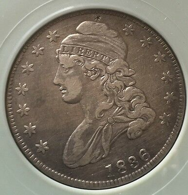 1836 Ntc Certified Capped Bust Silver Half Dollar 50C Coin