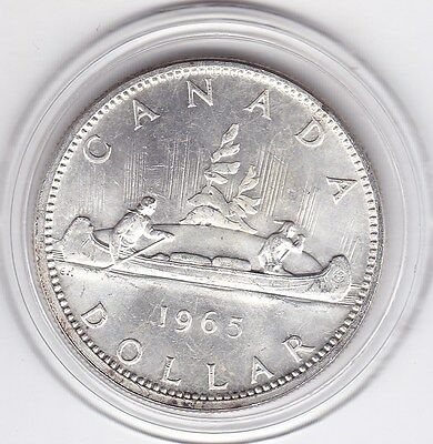 1965   Canada  Large  Proof  Silver  Dollar   Coin