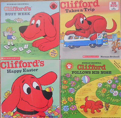 Clifford Bulk Book Pack - 4 Books - Bridwell - Busy Trip Easter Nose
