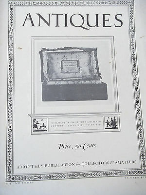 Magazine ANTIQUES  May 1923 Photographs Wallpapers Tea Caddy
