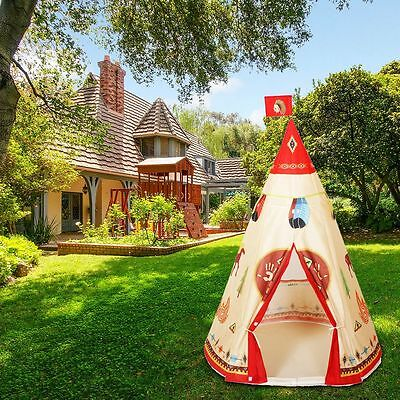 Kids Teepee Indian Play Tent House Accessories Indoor Outdoor Pop-up Childrens !