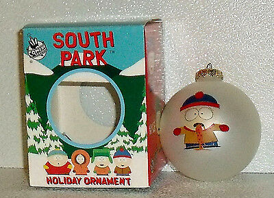 "South Park Ornament STAN SICK Glass Ball In Box 3"" Vtg 1998"