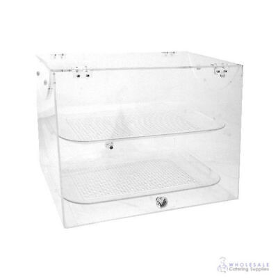 Cake & Food Display Cabinet Polycarbonate with 2 Shelves Zicco 480x405x360mm