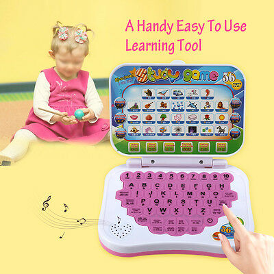 Baby Kids Child Bilingual Educational Learning Study Toy Laptop Computer Game AF