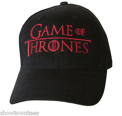 Game of Thrones Logo Embroidered Baseball Hat - Cap NEW