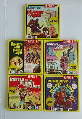 Planet of the Apes Super 8 mm RARE Sound Color Film Movie Collection ( 5 )