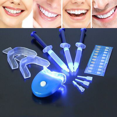 LED LUZ Sistema Gel Blanqueamiento Dental Blanca Bucal Blanqueador Dientes Kit