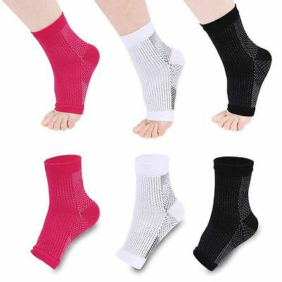 Foot Compression Elastic Sleeve Anti Plantar Relief Support Ankle Angel Socks UK