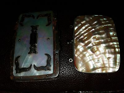 Antique Mother of Pearl Sorbontr Small Set of 2 Change Purses