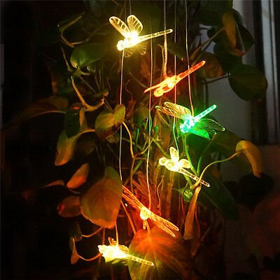 Solar LED Wind Chimes Home Yard Garden Decor Color Changing Outdoor Hanging Gift